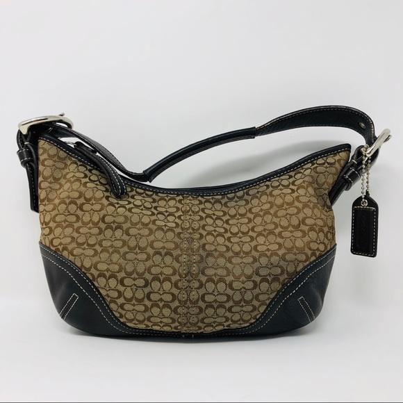 005b263b7d1 Coach Handbags - Coach 6351 Signature Canvas   Leather Hobo ...